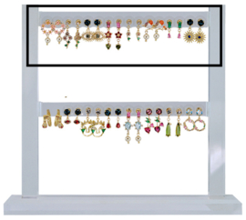 DIS16K - Refill : 1 row of 8 pairs of earhooks CZ color