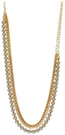 NL8 - Swarovski pearls chain in gift pouch - 86 cm (43 cm)