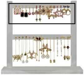 FDIS16L - Refill : 1 row of 8 pairs of festive earhooks CZ