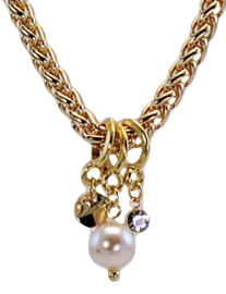 NL6 - chain with Swarovski pearl in gift pouch - 80 cm (40 cm)