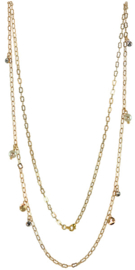 NL4 - chain with Swarovski pearls in gift pouch - 82 cm (41 cm)