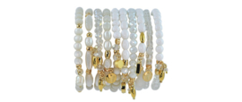0708 - 10 bracelets white