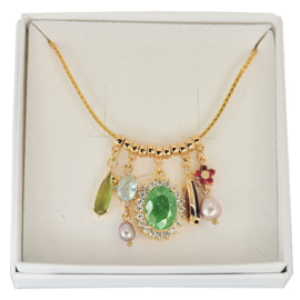 FCH53 - Festive chain necklace in gift box - 60 cm