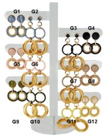 DIS12G - Earhooks display 12 pairs