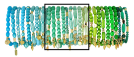0702 - 10 bracelets refill turquoise, mint or green