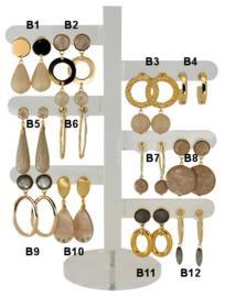 DIS12B - Earhooks display 12 pairs