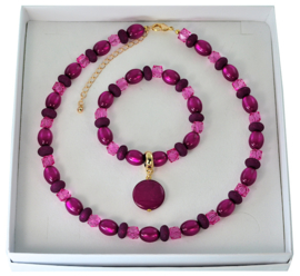 M2BOX - bracelet + necklace model M2 in box - login to choose color.