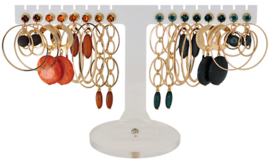 EH801 - Earhooks display 8 pairs