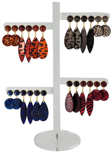 DIS12E - Earhooks display 12 pairs