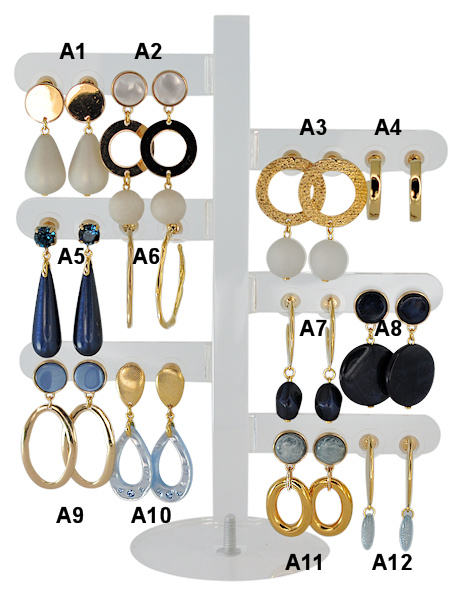 DIS12A - one pair of earhooks