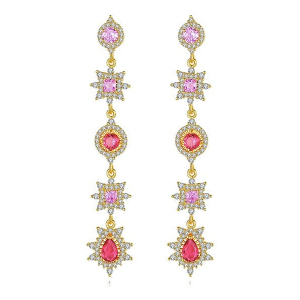 FEH01 - pair of festive earhooks in gift box with CZ cristal