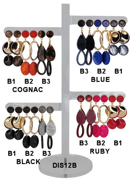DIS12B -  one pair of earhooks