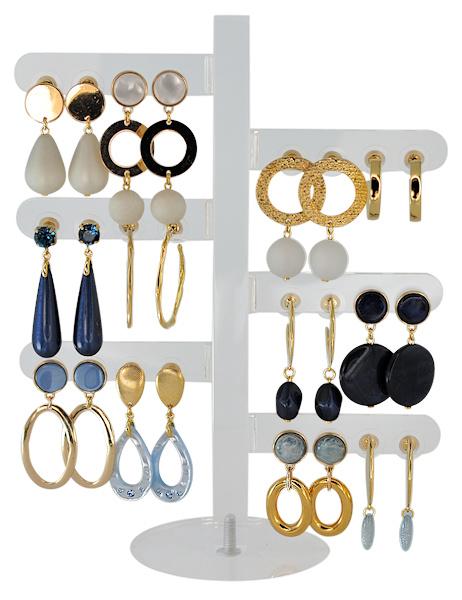 DIS12A - Earhooks display 12 pairs