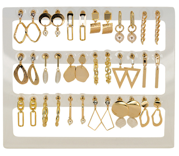 DIS18G - Earhooks display 18 pairs