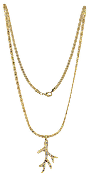 NL9 - 60 cm chain with clear cubic zirconia in gift pouch