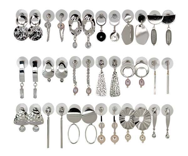 DIS18S -Refill :  1 row of 6 pairs of  earhooks