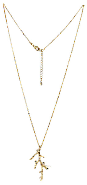 NL8 - 46 cm chain with clear cubic zirconia in gift pouch