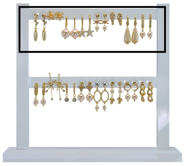 DIS16 - Refill : 1 row of 8 pairs of earhooks