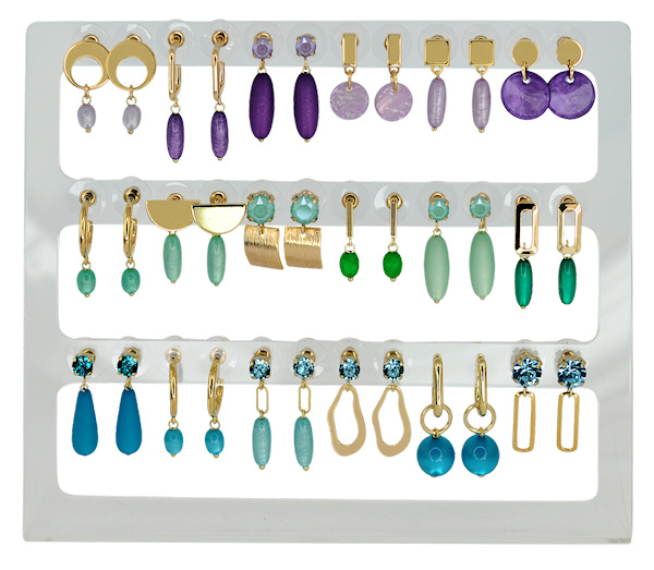 DIS18B - Earhooks display 18 pairs