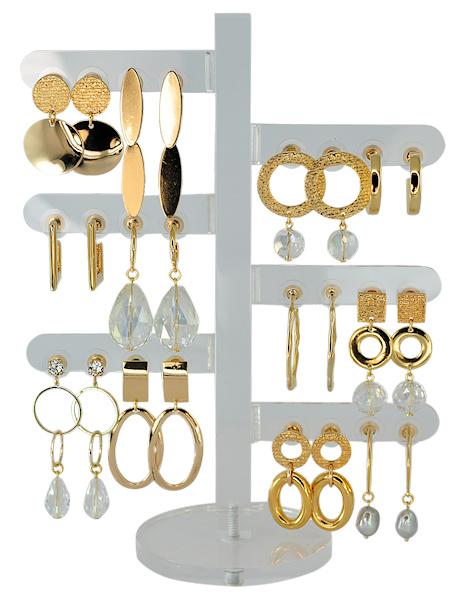 DIS12F - Earhooks display 12 pairs