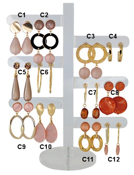 DIS12C - one pair of earhooks