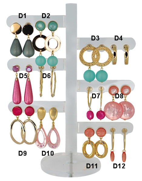 DIS12D - one pair of earhooks