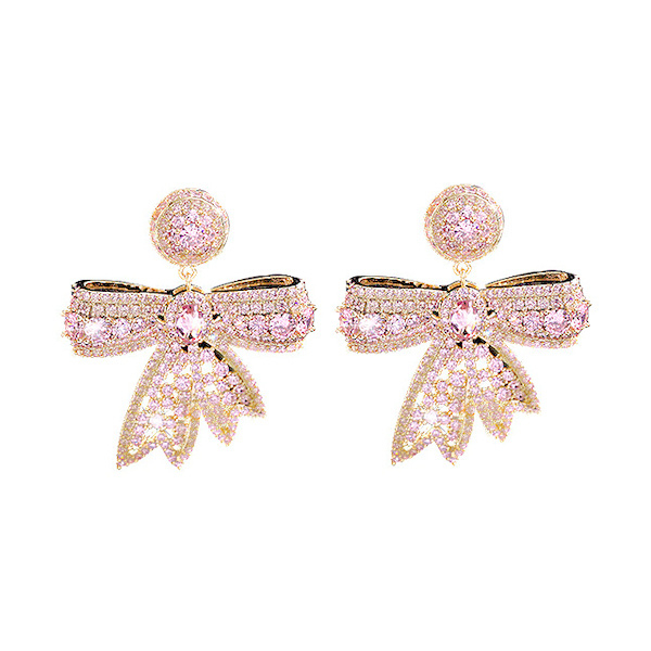 FEH13 - pair of festive earhooks in gift box with CZ cristal