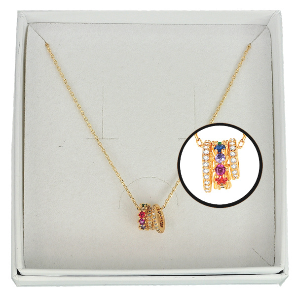 FCH51 - Festive chain necklace in gift box - 40 cm