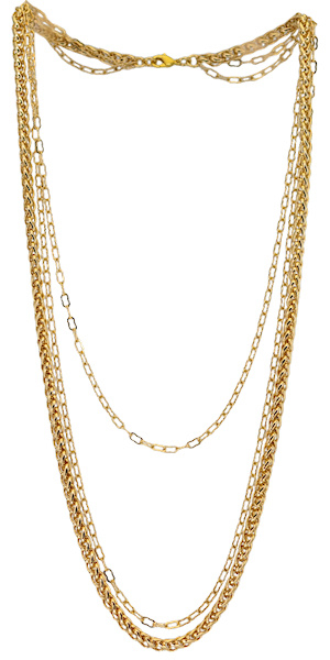 NL3 - chain necklace in gift pouch - 105 cm (40/90 cm)