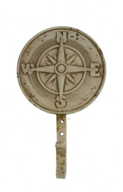 Haak metaal Kompas 15x9x5cm