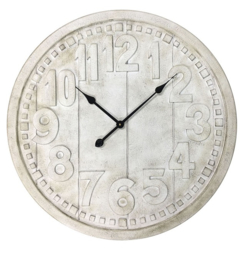 Wooden Whitewash Clock Dia 70x4.5cm