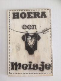 Postkaart Hoera een Meisje