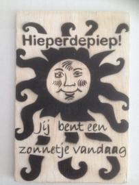 Postkaart Hieperdepiep Jij bent een zonnetje