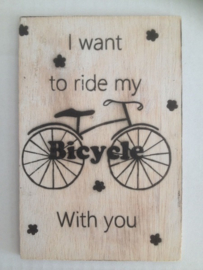 Postkaart I want to ride my bicycle with you