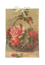 Geurzakje Rozenmand (roos) 17x11,5cm
