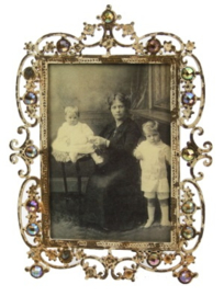 Fotolijstje antique strass bruin (9x13) 14x1x17cm