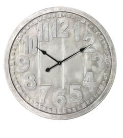 Wooden Greywash Clock Dia 70x4.5cm
