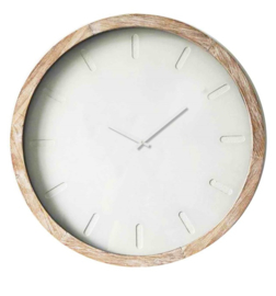 Wooden Clock 'Abstract' Glass Cover Large 80x6.5cm