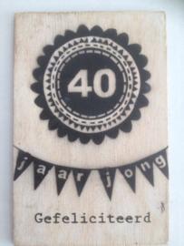Postkaart 40 jaar jong