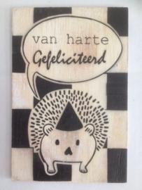 Postkaart Van harte gefeliciteerd