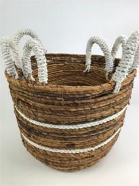 Round Bowl Basket Mand Set 3, 27 h, doorsnee 30/24/19