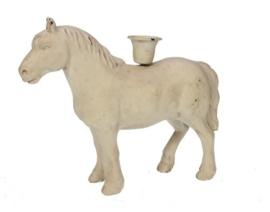 Kandelaar paard creme 21,5x6,5x18cm