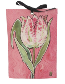 Geurzakje Roze papagaaie tulp (english rose) 17x11,5cm