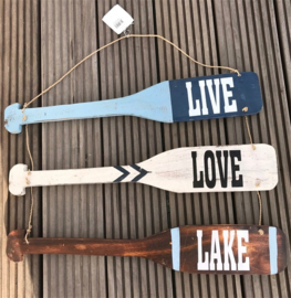 Tekstbord Live Love Lake 40x60 cm