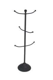 Sieradenrek zwart 17x17x46,5cm