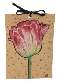 Geurzakje Roze tulp (gardenia) 17x11,5cm