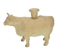 Kandelaar koe creme 17x5x13cm