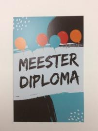 Postkaart cm Meester Diploma
