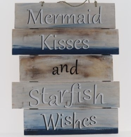 Beach Bord Mermaid Kisses 40x55 cm