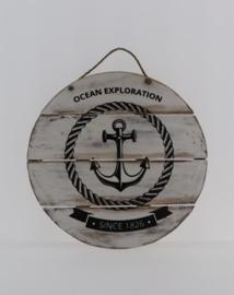 Tekstbord rond 40 cm Ocean Exploration